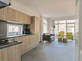 Recreatiechalet faro met lessenaar dak interieur keuken