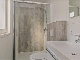 Recreatiechalet faro met lessenaar dak interieur badkamer luxe